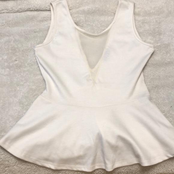 Necessary Clothing Tops - Off White Peplum Top